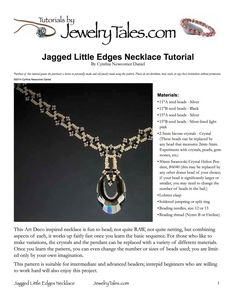 Beadwoven Art Deco Necklace Tutorial Jagged Little by JewelryTales