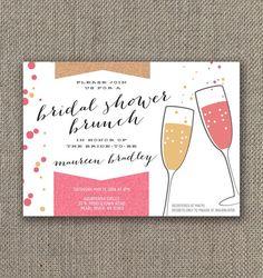 Bridal Shower Brunch Invitation! DIY Bridal Shower Invite