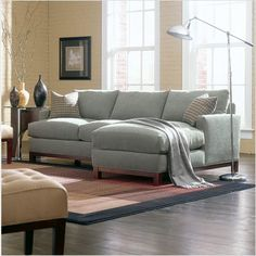 West Elm. I want a small apartment size sectional like this for my ...