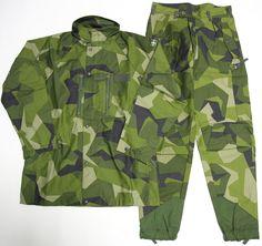 Swedish M90 camo pants and jacket