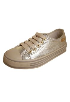 Tênis Pampili Fashion Dourado