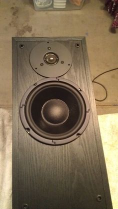 My Polk Audio tower speakers had a torn woofer so I decided to upgrade the drivers. I used the BR 1 speaker kit from Parts Express. http://www.parts-express.com/pe/showdetl.cfm?partnumber=300-643 The woofer was a perfect fit and dropped right in. However the tweeter was much larger and required the existing hole to be enlarged. I used the Jasper circle jig with my router to make the cut. The crossover that was mounted to the speaker terminals on the Polks was removed and the new crossover…
