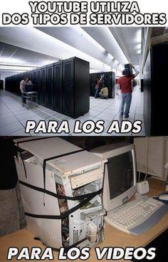 YouTube y sus dos tipos de servidores