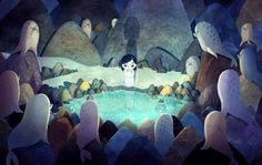 The Sea Movie, Song Of The Sea, Film Song, Film D'animation, The Secret Of Kells, Hokusai, Sea Art, Children's Book Illustration, Book Illustrations