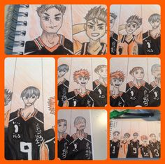 Finished drawing Karasuno!