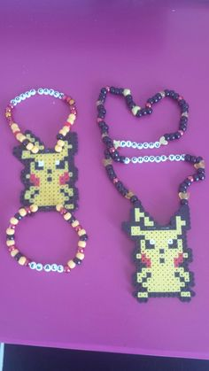 Pikachu Rave Necklace & Bracelet I Choose You Gotta Catch Em All