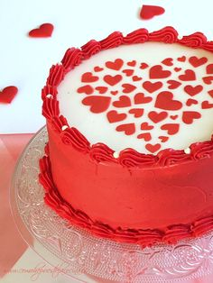 Valentines Cakes And Cupcakes, Valentine Desserts, Valentine Cake, Cupcake Cakes, Cake Boarders, Heart Shaped Birthday Cake, Simple Birthday Cake Designs, Best Sweets, Cake Decorating Tips