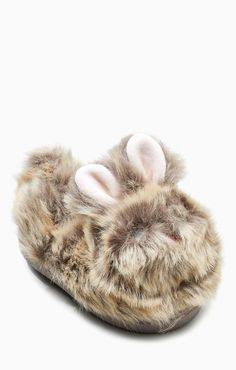 01be5aa66d954 Chaussons lapin en fausse fourrure fille Chausson Animaux