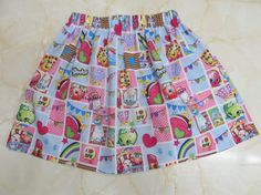 Shopkins Childrens Skirt by GabrielaKathi on Etsy