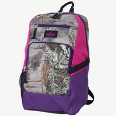 Team Realtree Xtra Backpack with Purple Accents $35.99  #Realtreecamo #backtoschool
