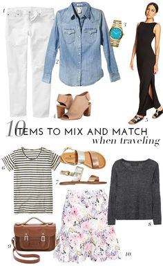 10 Items To Mix And Match When Traveling | theglitterguide.com