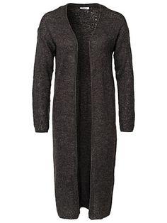 239 Airy Ultra Long Cardigan - Only - Dark Grey Melange - Trøjer - Tøj - Kvinde - Nelly.com