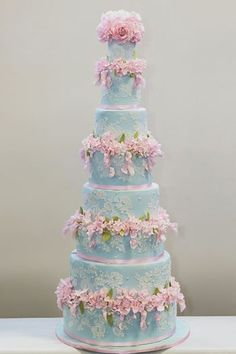 Indian Weddings Inspirations. Blue Wedding Cake. Repinned by #indianweddingsmag…