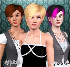 Anubis - Sims Stuff: Talenzz Kitamura Hair ~ Converted for both genders