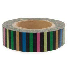 Two Berry Creative Washi Tape - Pastel Stripe on Black by Two Berry Creative, http://www.amazon.com/dp/B00DWHXQJ0/ref=cm_sw_r_pi_dp_pfXfsb0TJVCP2