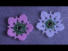 동영상 | VK Simple Flower Drawing, Easy Flower Drawings, Easy Flower Painting, Acrylic Painting Flowers, Beaded Flowers Patterns, Beading Patterns, Crochet Flower Tutorial, Crochet Flowers, Vintage Flower Tattoo