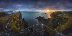 Amateur snapper Nicholas Roemmelt took this stunning picture of the coastline at Vesteralen in Norway