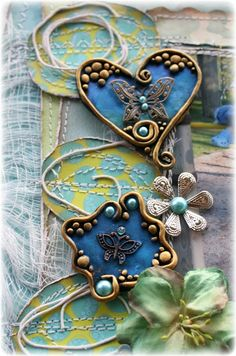 Such a Pretty Mess: Polymer Clay  Trinket Embellishment Tutorial (Bo Bunny DT)