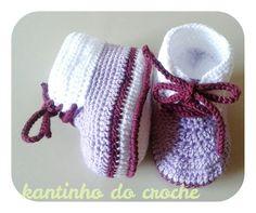 Botinha de croche para bebês