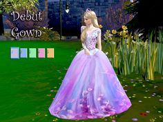 Hi everyone this is the gown for a perfect teen celebration of your teenage sim. Found in TSR Category 'Sims 4 Female Young Adult Party' I Want, Sims 4, Debut Gowns, City Living, Pink Dress, Your Photos, Ball Gowns, Free, Princess