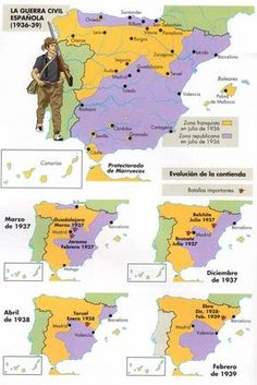 uploaded this image to 'Fotos-Imagenes'. See the album on Photobucket. Historical Maps, Historical Pictures, Spanish War, Bible Mapping, Teaching Spanish, History Facts, World History, Military History, World War Two