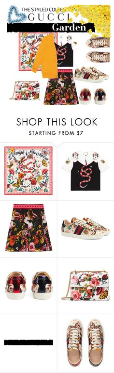 """Presenting the Gucci Garden Exclusive Collection: Contest Entry"" by jette-n-gabe ❤ liked on Polyvore featuring Gucci and gucci"