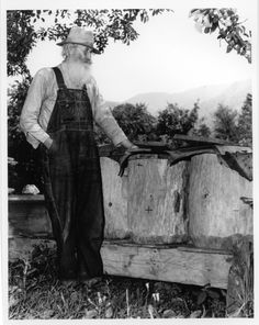 appalachian photos people | 4261 Uncle Dan Myers and bees (2)