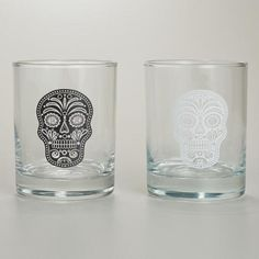 One of my favorite discoveries at WorldMarket.com: Muertos Double Old Fashioned Glasses, Set of 2