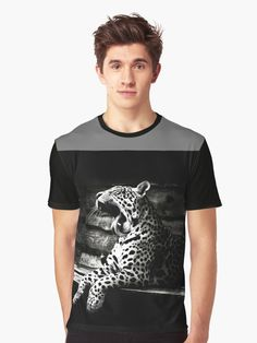 'Black And White Leopard Design' Graphic T-Shirt by Narkusdesign White Leopard, Gifts For Your Boyfriend, Style Inspiration, Black And White, Tees, Mens Tops, T Shirt, Stuff To Buy, Outfits