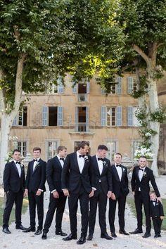 A Fairytale Wedding at Château De Robernier in Provence Wedding Poses, Wedding Suits, Wedding Attire, Wedding Ideas, Black Tux Wedding, Diy Wedding, Wedding Planning, Fall Wedding, Dream Wedding