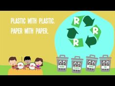 Reduce, Reuse, Recycle! Watch our 'Earth Day Recycling' video with song lyrics and sing along with the kids! #kidsmusic #preschool #kindergarten