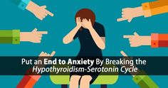 Discover the hypothyroidism and anxiety cycle and five thyroid diet tips to help end anxiety so you can get on with life without the fear and worry...