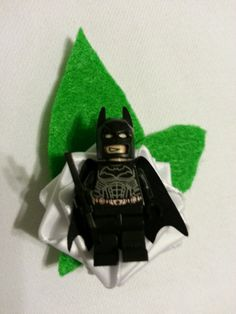 Wedding Geek Nerd Lego Boutonniere Batman Captain by DivinityBraid