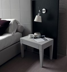 stylish scandinavian styled bedsite table from porada