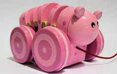 Toys Link - Wooden Pullalong Toy - Pig