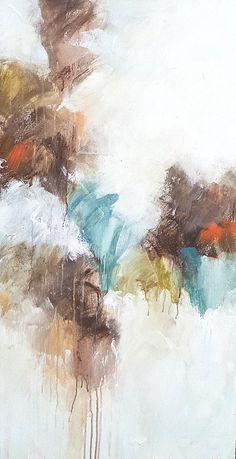 """Melissa Payne Baker, """"Escape,"""" mixed media on canvas, 48 x 24"""