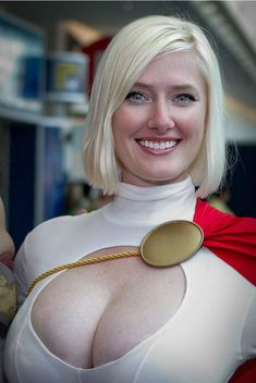 Powergirl.  No doubt what gives her the power...