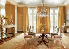 Inspired dining rooms perfect for entertaining - golden dining room | Architectural Digest