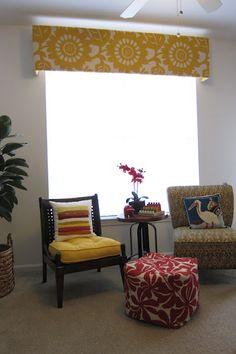 Inspired Whims: Living Room Update - DIY Cornice Box