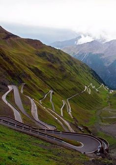 The Stelvio Pass in Italy.bestest road to D r i v e, to the Alps from Italy to Switzerland; Beautiful Roads, Beautiful Places To Visit, Beautiful Scenery, Places To Travel, Places To See, Dangerous Roads, Adventure Is Out There, Country Roads, Around The Worlds