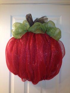 Teacher's Pet Apple deco mesh wreath  FREE by TheCrazyWreathLady