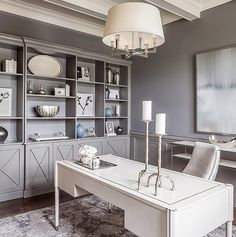 Circa Lighting is committed to offering quality home lighting, lamps and accessories that are as beautiful as they are timeless. Mesa Home Office, Cozy Home Office, Home Office Space, Home Office Desks, Office Spaces, Ikea Office, Home Office Furniture Ideas, Office With Couch, At Home Office Ideas