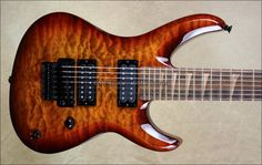 Jackson Custom Shop USA SL2H Soloist 7 String Ebony Neck NAMM 2013 Guitar