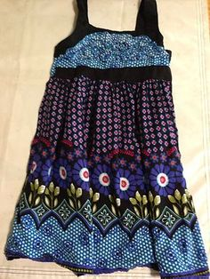 Emily West Toddler Dress Geometric Floral Shapes   Size 7
