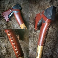 Scandinavian Forest axe by Gränsforsbruks gets some leather protection