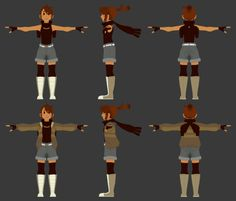 disappeareddraws:  3D LowPoly of @nargyle's character, Enna! I technically started this back in September, but kept putting it off. I got bit by the blender bug again, though, and decided to give it another shot! So.. less birthday, more Christmas? 0: It's not 100% finished, yet, since I'm kinda learning as I go and haven't had much luck/patience trying to rig the jacketed version properly. I've still had a lot of fun with this, though! Pose in the top right referenced from here.   MIND…