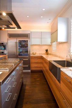 Boston Penthouse Poggenpohl Kitchen in Swiss pear-wood