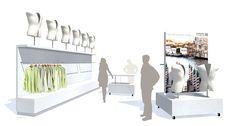 Concept for corner shop