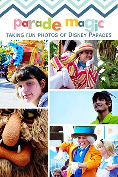 Tips for Taking Fun Photos of Disney Parades (examples are taken with a point and shoot camera).