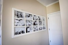 Turned an old French door into a picture frame Going to do this with set of doors from Milton house!!
